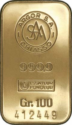 Argor Chiasso Gold Bars