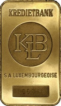 Kreditbank Luxembourg Johnson Matthey Pauwels Gold Bars