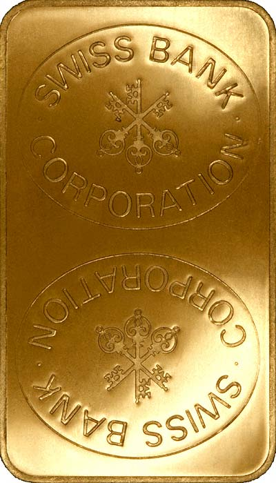 SBC Swiss Bank Corporation 100 Gram Gold Bar