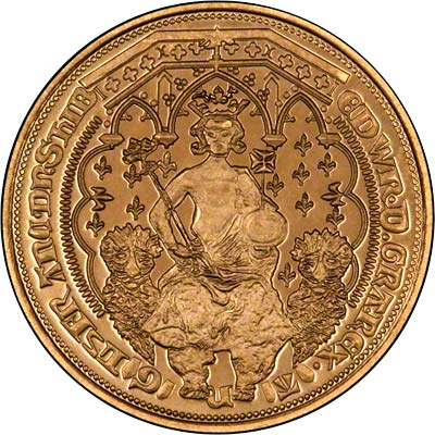 Obverse of Edward III Fantasy Gold Florin