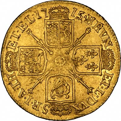 Cruciform Shields on Reverse of Typical Guinea