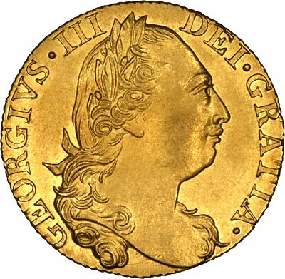 George III on Obverse of 1775 Guinea