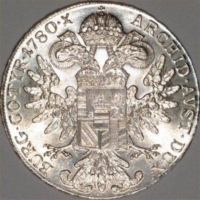 Our 1780 Maria Theresa Thaler Reverse Image
