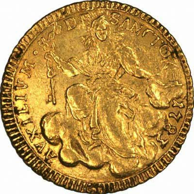 Obverse of 1783 Papal States Gold Zecchino