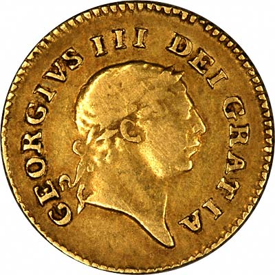 Obverse of 1806 George III Third Guinea