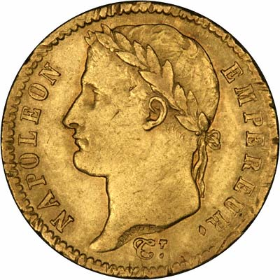 Obverse of 1813 20 Francs