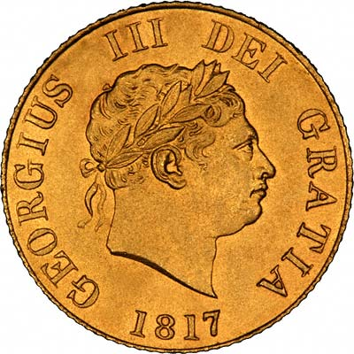 Obverse of 1817 Half Sovereign