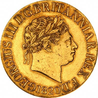 King George III on Obverse of 1820 Gold Sovereign