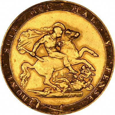 Saint George & Dragon on Reverse of 1820 George III Gold Sovereign