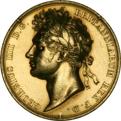1821 King George Iv Coronation Gold Medallion