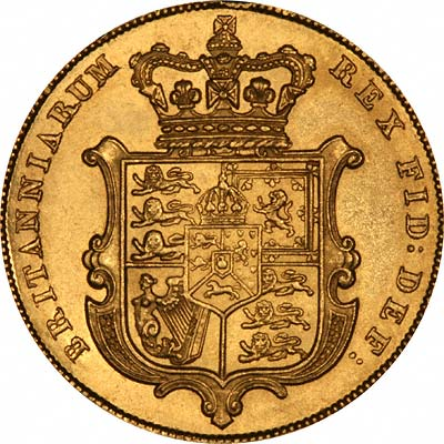 Shield Reverse of George IV Sovereign