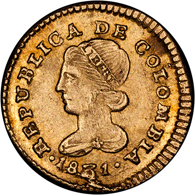 Colombian Gold Coins Columbia 2 5 Pesos