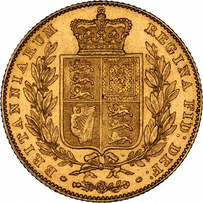 Shield Reverse on a Victorian Sovereign
