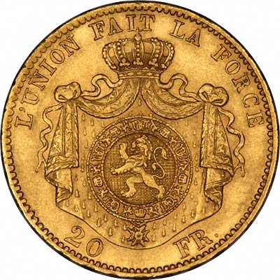 Reverse of  20 Francs of 1867