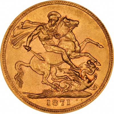 St George & Dragon on Reverse of Gold Sovereign