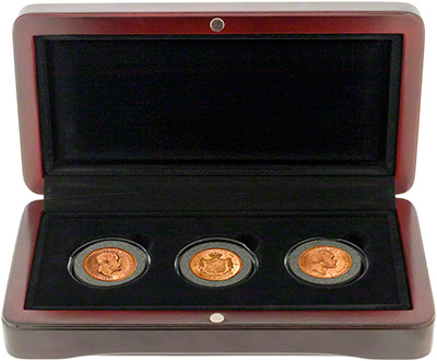 Three Coin Gold Set in Case