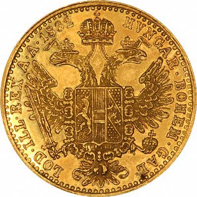 Reverse of 1882 Austrian One Ducat