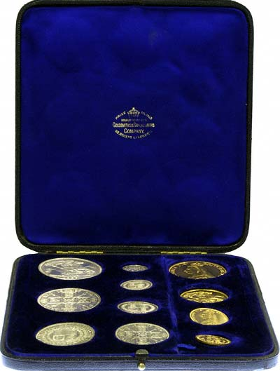 1887 Golden Jubilee  Eleven Coin Specimen Set
