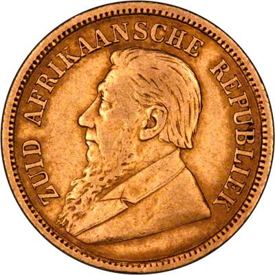 Obverse of 1895 South African Half Pond