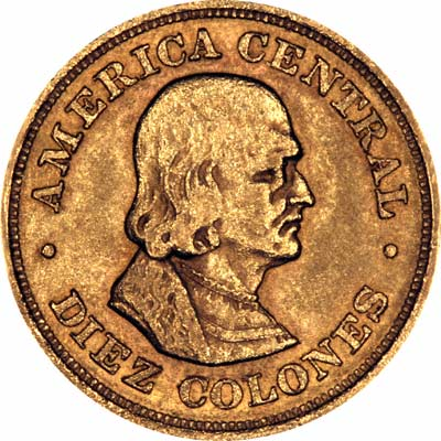 Obverse of 1974 Costa Rican 1500 Colones