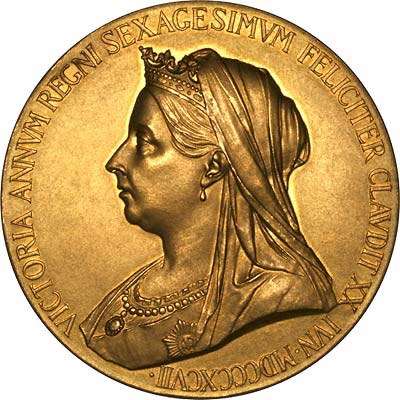 Obverse of 1897 Queen Victoria Diamond Jubilee Gold Medal