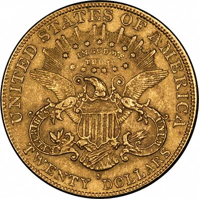 Reverse of Fake 1901-S US Gold Double Eagle
