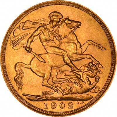 Reverse of 1902-S Sovereign