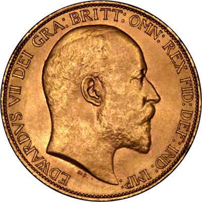 Obverse of 1902 Gold Two Pounds
