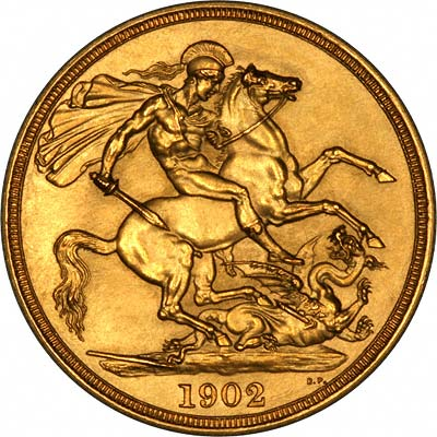Reverse of 1902 Gold Two Pounds
