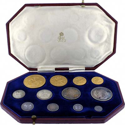 1911 George V Coronation 12 Coin Gold & Silver Proof Coin Set in Original Box