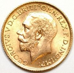 Obverse of 1917 Sovereign