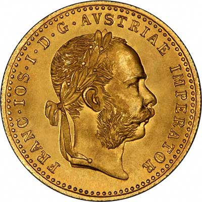 Obverse of 1915 Austrian One Ducat
