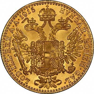1915 Austrian One Ducat Gold Bullion Restrike Coin