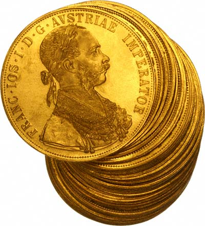 Austrian Gold Four Ducats 1612 1915 Chards Tax Free Gold