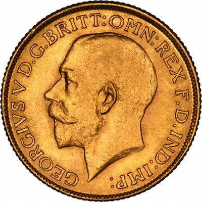 Obverse of 1924 Sovereign
