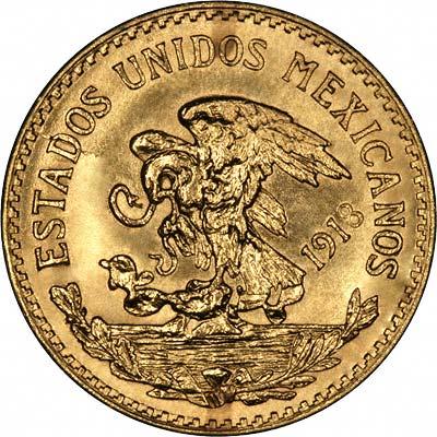 Mexico 20 Pesos Gold Coins