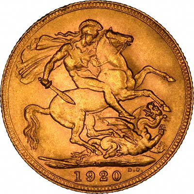Reverse of 1920 Gold Sovereign