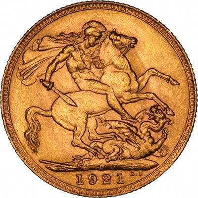 Reverse of 1921 Gold Sovereign