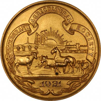 1921 South African Agricultural Society Medallion
