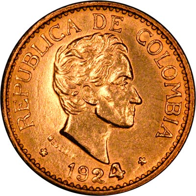 Colombian Gold Coins Columbia 5 Pesos