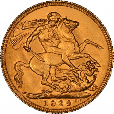 Reverse of British Gold Sovereign