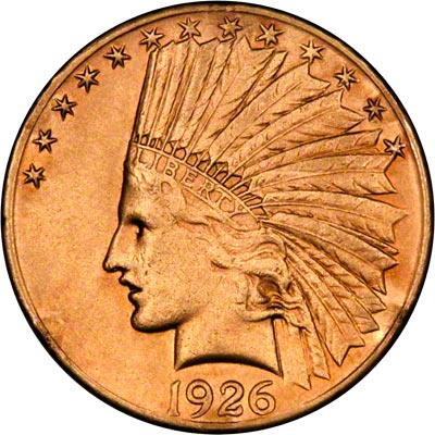 Obverse of 1926 American Gold Eagle