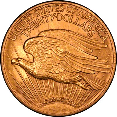 Reverse of 1927 American Gold Double Eagle