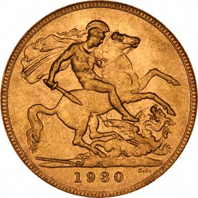 Reverse of 1930 Gold Sovereign