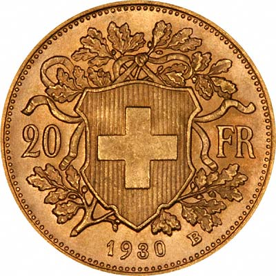 Obverse of 1930 Sovereign