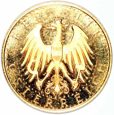 Obverse of 1931 Austrian 100 schillings