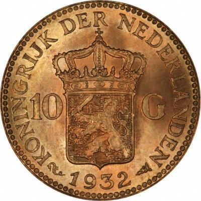 1932 dutch 10 guilders of queen wilhelmina - Coin de finition plinthe ...