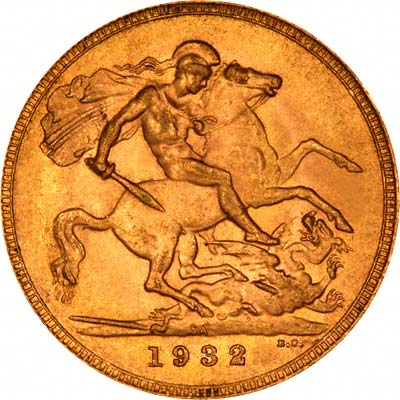 Reverse of 1932 Gold Sovereign