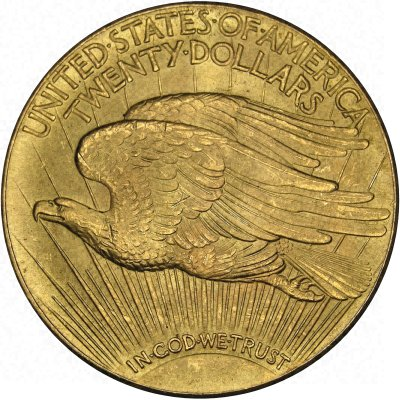 Reverse of 1933 USA Gold $20 Double Eagle