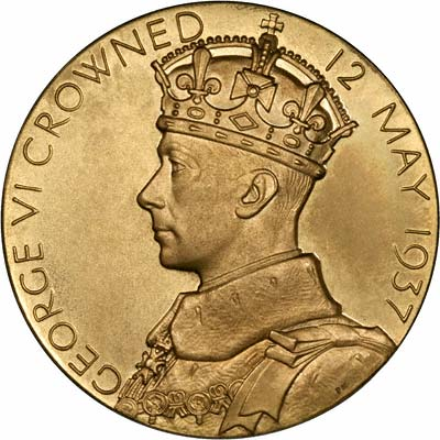 1937 King George Vi Coronation Gold Medal